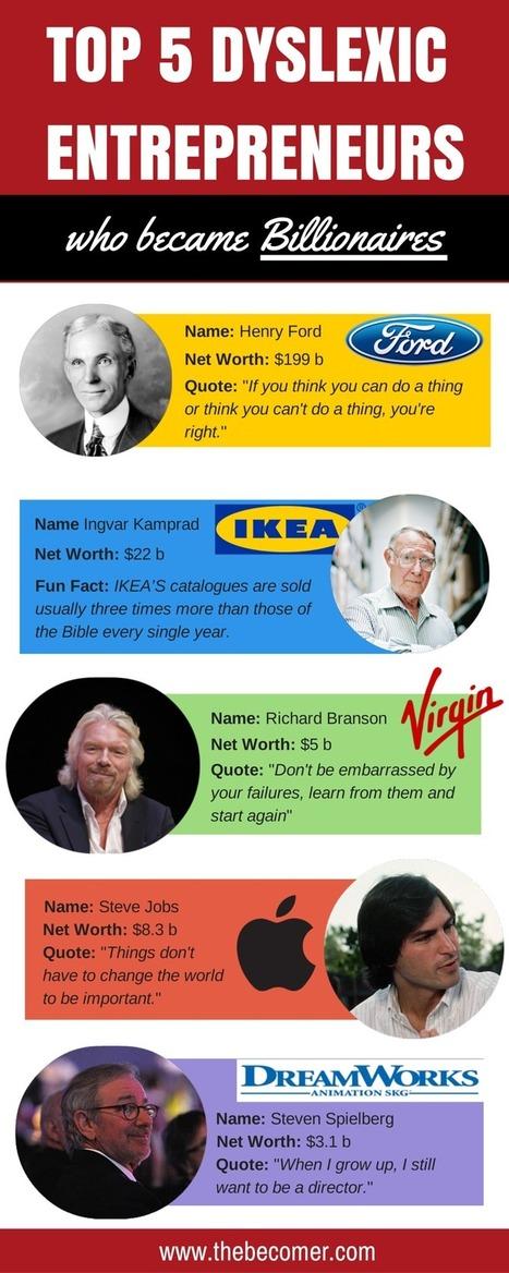Top 5 Dyslexic Entrepreneurs Who Became Billionaires - The Becomer   Apprendre l'anglais   Scoop.it