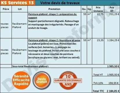 KS Services 13: Chiffrage travaux Peinture plafond : Bouches du Rhône | Courtier en travaux Bouches du Rhône | Scoop.it