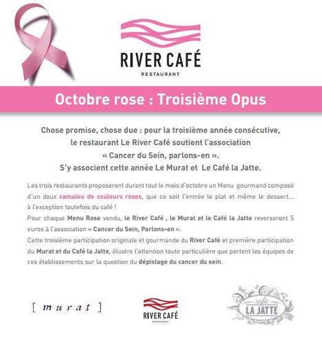 RIVER CAFÉ - Octobre Rose | RESTOPARTNER : des restaurants  de qualités à Paris - France | Scoop.it