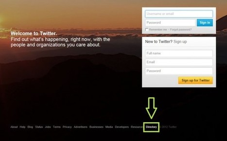 Twitter Quietly Launches User Directory - Search Engine Journal | Multimedia Journalism | Scoop.it