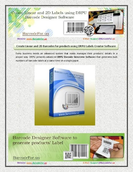 Design Linear and 2D Barcodes using DRPU Barcode Generator Software - PdfSR.com | Barcode Software | Scoop.it