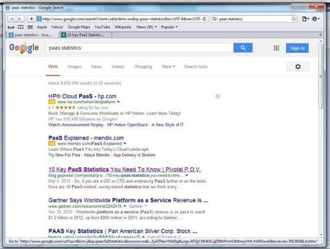 10 Key PaaS Statistics, #1 on Google Search Results | How to save google search results? | Scoop.it
