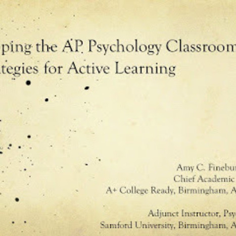 The AP Psychology Experience - Tools for the Classroom | Psychology Mrs. Whiddon | Scoop.it