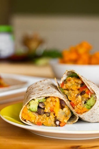 Black Bean and Butternut Squash Burritos — Oh She Glows | Food Porn | Scoop.it