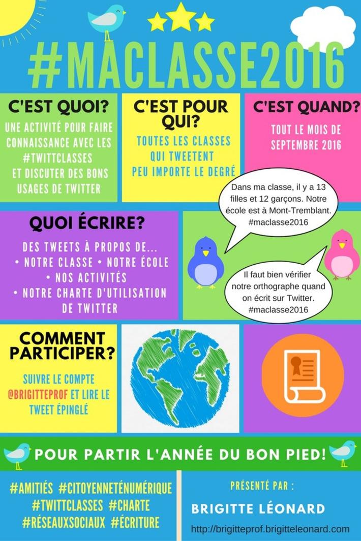 #MaClasse2016: Une activité sur Twitter pour partir l'année du bon pied! - | TIC et TICE mais... en français | Scoop.it