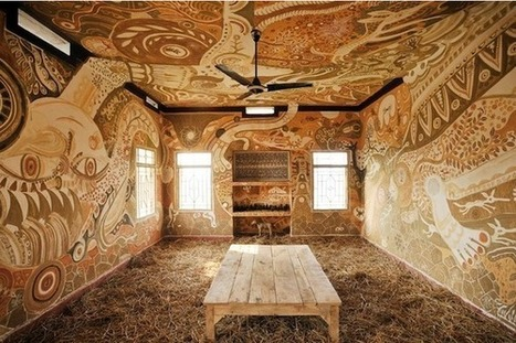 Stunningly Intricate Mud Paintings Cover Classroom Walls | Socialart | Scoop.it