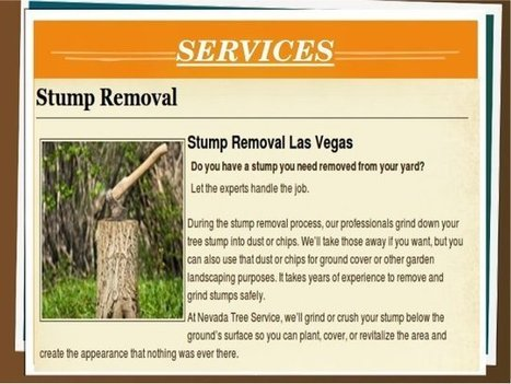 Stump Removal Las Vegas | Tree Care Services | Scoop.it