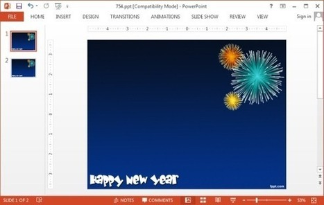 Free New Year PowerPoint Templates   Free Microsoft Word Templates   Scoop.it