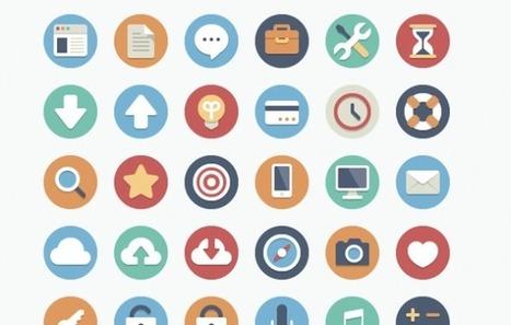 90 iconos, con dos variaciones cada uno, disponibles de forma gratuita en elegantthemes | TICs en educación ICT in education | Scoop.it