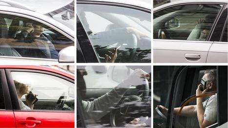 Kännykkää näpräävät autoilijat ovat suuri vaara maanteillä – puhelimeen puhuminen erittäin yleistä | Terveystieto | Scoop.it