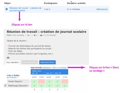 Tutoriel : comment planifier simplement une réunion avec Doodle | Madmagz Education | Time to Learn | Scoop.it