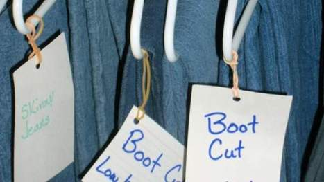 Find Your Jeans Quicker with Hanging Labels - Lifehacker   StickerYou   Scoop.it