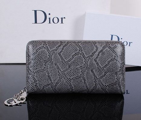 1923 Christian Dior Wallets Cowhide Snakeskin Pattern Grey - £68.58 | I found the Bags Home | Scoop.it