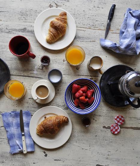 Voici un petit-déjeuner (breakfast) à la française. Et vous, à quoi ressemble votre petit-déjeuner ? | le français à table | Scoop.it