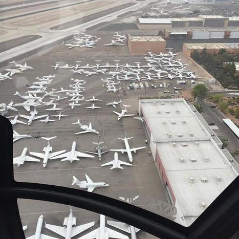 Private jets flooding the Las Vegas airport before the Mayweather-Pacquiao fight | Geography Education | Scoop.it