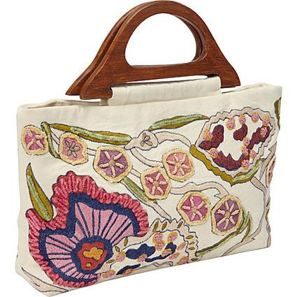 Moyna Handbags Rectangle Tote Ivory - Moyna Handbags Fabric Handbags | I love designer handbags | Scoop.it