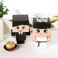 [US$ 6.19] Bride & Groom Favor Boxes (Set of 6 Pairs) (050005790) | beautifuldresses | Scoop.it