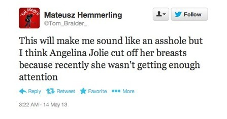 Asshat Reactions to Angelina Jolie's Double-Mastectomy | Crimes Against Humanity | Scoop.it