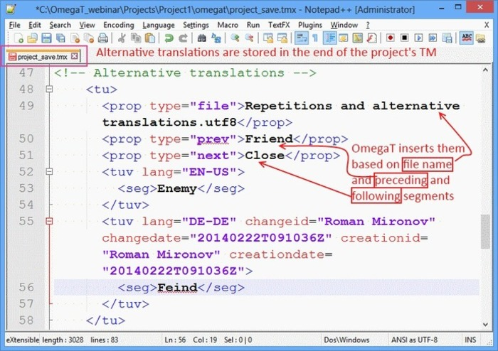 (CAT) (VIDEO) - Auto-Propagation and Alternative Translations in OmegaT | Roman Mironov | Glossarissimo! | Scoop.it