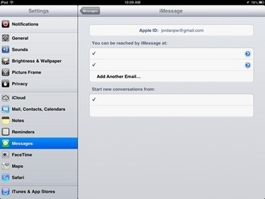 iPad Basics: How to Change the Email Address for Messages | iPads for Learning & Teaching | Scoop.it