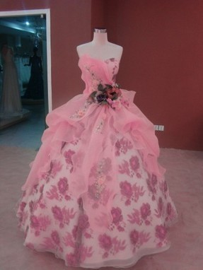 Architectural Organza Quinceanera Dress with Floral Detail | Modern Quinceanera Dress | Scoop.it