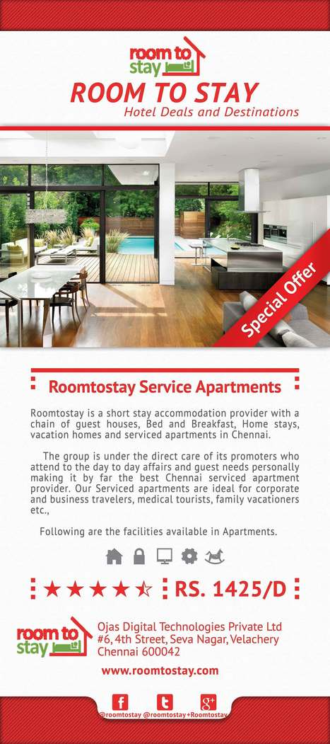 Room To Stay : Service Apartments in Chennai | Hotels in chennai | Scoop.it