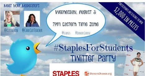 Back to School Twitter Party tonight 8/3 at 7pm EDT | Durff | Scoop.it