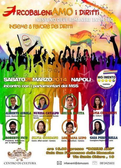 5 Stelle Campania: una giornata dedicata ai diritti lgbt   Gay Italia   Scoop.it