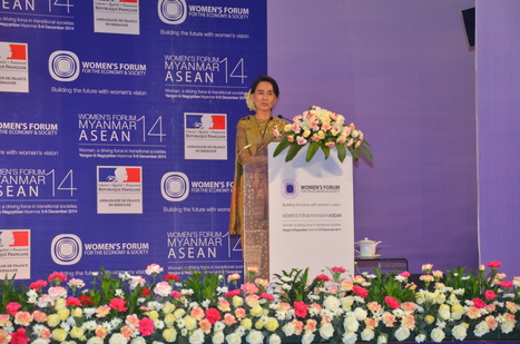 Myanmar President and Daw Aung San Suu Kyi Deliver Rousing Speeches in support of Women's Advancement   Women empowerment   Scoop.it