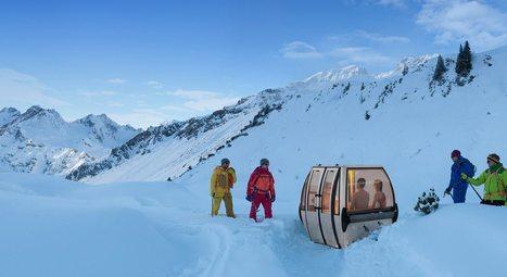 Innovation & Startup : Des saunas mobiles fabriqués à partir de vieilles télécabines de ski | HelloBiz | transports par cable - tram aérien | Scoop.it