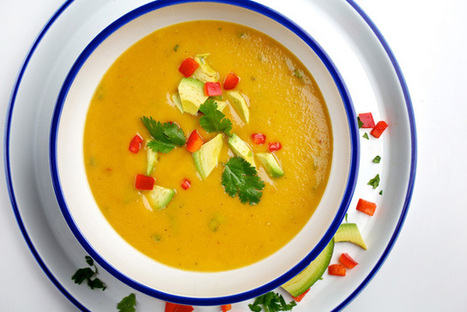 Peach gazpacho recipe, a savory vegan soup - VOXXI   Healthy Recipes and Tips for Healthy Living   Scoop.it