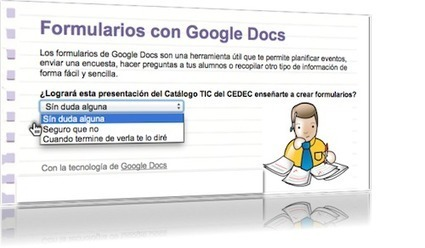 Posibilidades educativas de los formularios de Google Docs : Aulablog21 | Docentes y TIC (Teachers and ICT) | Scoop.it