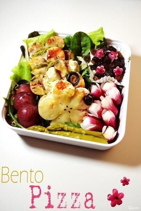 Mon Bento Végétarien » Bento Pizza Girly   Bento en france   Scoop.it
