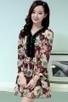 V Neck Floral Chiffon Dress - OASAP.com | Oasap street fashion | Scoop.it