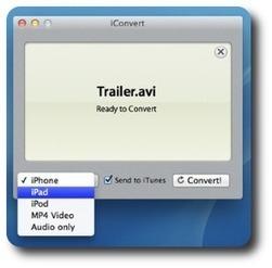 iConvert pour Mac : pour convertir et envoyer automatiquement des vidéos sur iTunes - David Taté Technologie | le foyer de Ticeman | Scoop.it