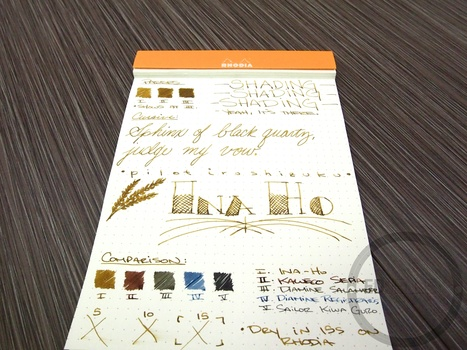 Pilot Iroshizuku Ina-Ho - Handwritten Ink Review | Writing instruments | Scoop.it