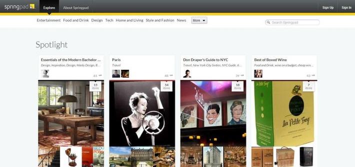 Springpad: een alternatief voor Pinterest? | Edu-Curator | Scoop.it