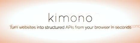 Le web scraping facile - Kimono | Time to Learn | Scoop.it