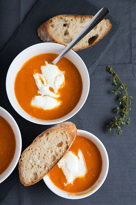 Creamy oven roasted tomato soup with mozzarella | Passion for Cooking | Scoop.it