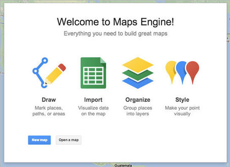 Visualize your data on a custom map using Google Maps Engine Lite [Tuto] | formation 2.0 | Scoop.it