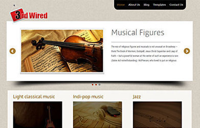 3rd Wired Portfolio WordPress Theme | Business WordPress Theme | Sketchthemes | Scoop.it