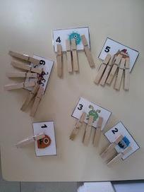 Recursos d'un mestre d'infantil: TREBALLEM LES MATEMÀTIQUES AMB PINCES | Recull diari | Scoop.it