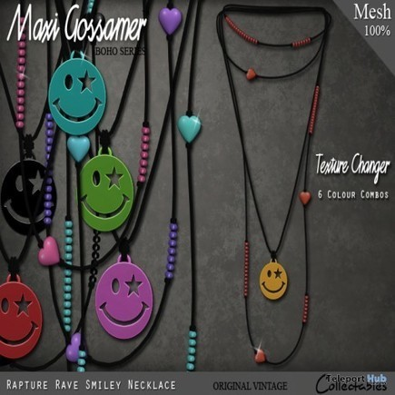 Rapture Rave Smiley Necklace Group Gift by Maxi Gossamer | Teleport Hub - Second Life Freebies | Second Life Freebies | Scoop.it