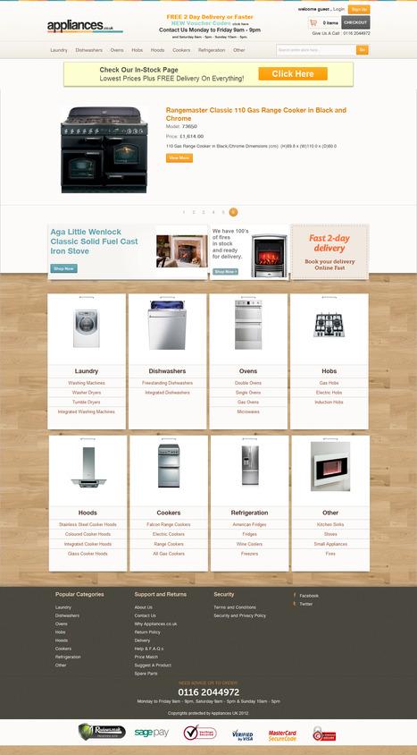 Appliances Electronics eCommerce Store | Magento eCommerce CMS Design and Development | Scoop.it