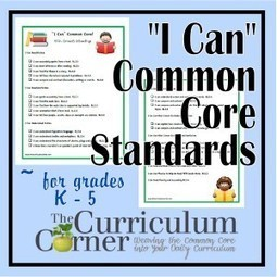 I Can Common Core Standards for K – 5 | Common core standards for elementary | Scoop.it