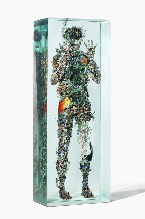 Psychogeographies: 3D Collages Encased in Layers of #Glass by Dustin Yellin #art #collage  #sculpture | The Art World | Scoop.it