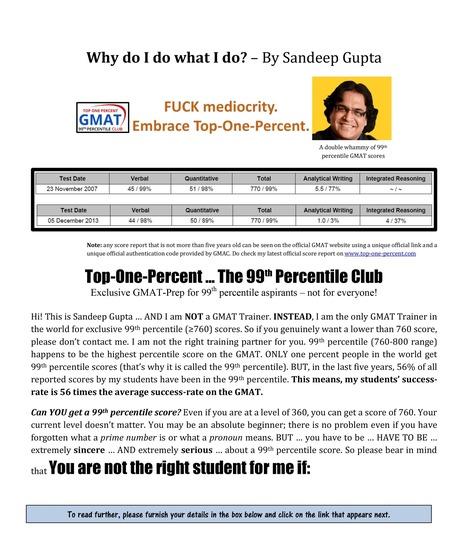 GMAT Coaching Classes, GMAT preparation in Delhi and Bangalore | GMAT Institute | Viraz Gupta | Scoop.it