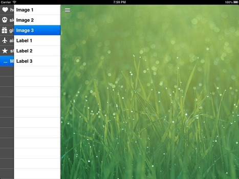 SWRevealViewController: Yet another StackController   iPhone and iPad Development   Scoop.it