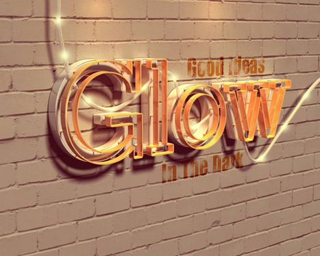 Create a Glowing 3D Photoshop Text Effect | The Official Photoshop Roadmap Journal | Scoop.it