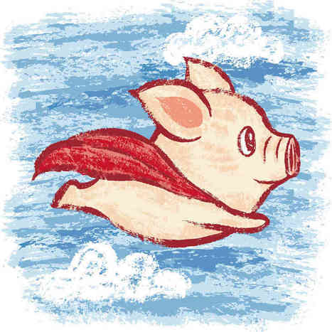 Imagine A Flying Pig: How Words Take Shape In The Brain : NPR | Brains & Things | Scoop.it